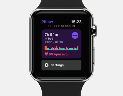 pillow apple watch sleep tracker app