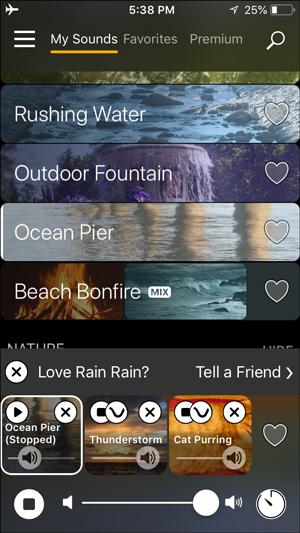 white noise apps for iphone- rain rain