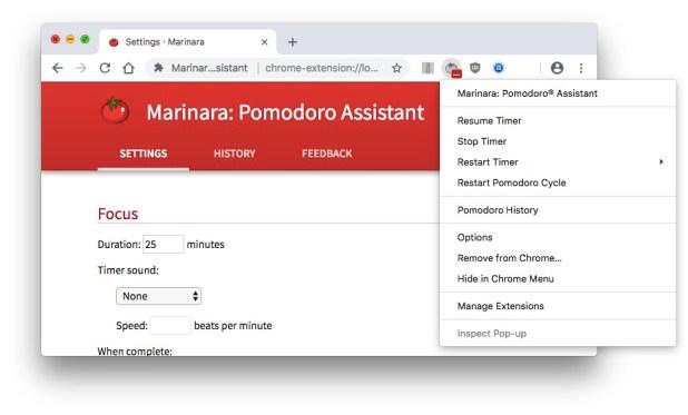 Marinara: Pomodoro® Assistant