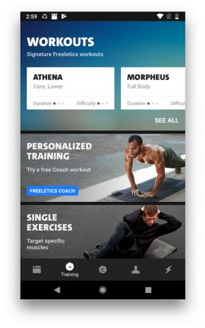 freelectics app to workout from home