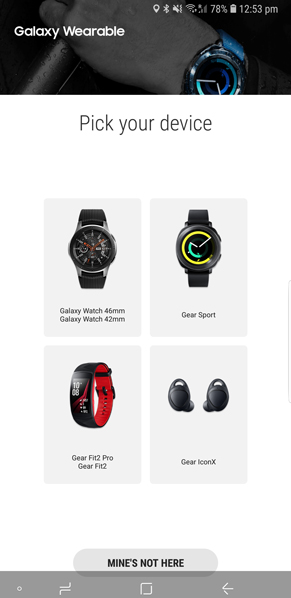 Galaxy Wearableapp on your Android