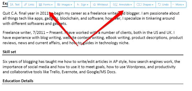 pdf writer online