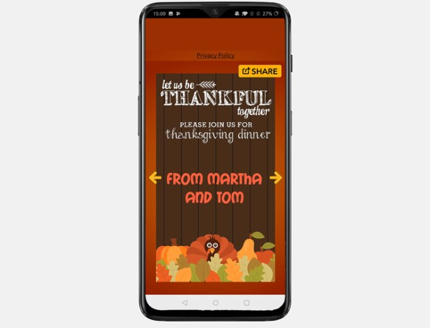 best thanksgiving apps- cards android