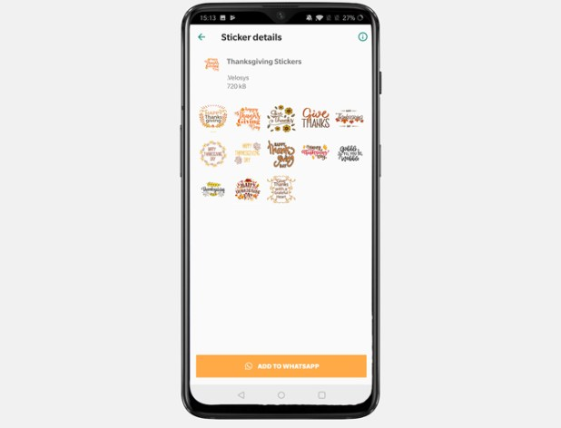 best thanksgiving apps- stickers android