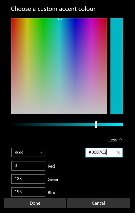 win10 settings app color picker