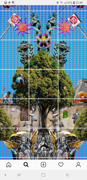 How do you do a photo grid on instagram