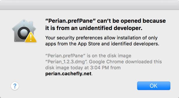 gatekeeper error message