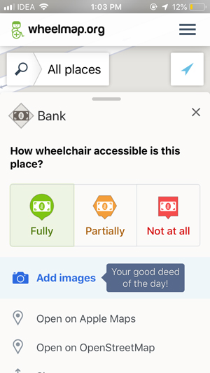 apps for old people- wheelmap
