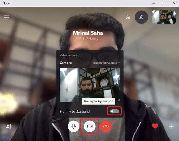 get blur mode on skype- alternative