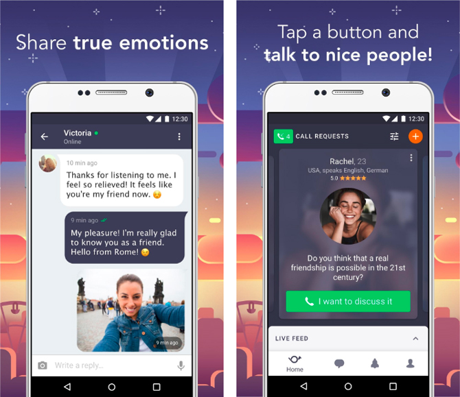 anonymous chat apps- wakie app screenshot