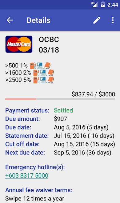 credit card management app- Credit Card Managet