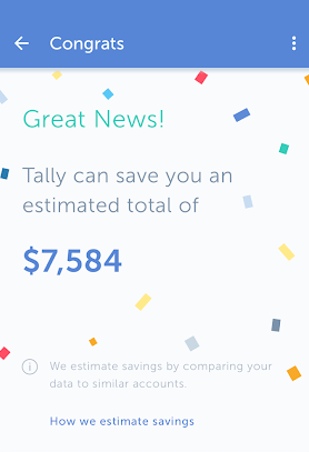 credit card management app - Tally