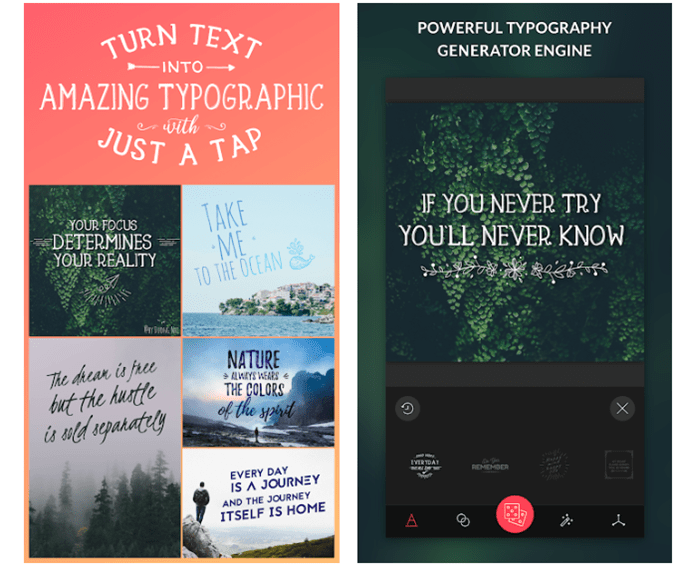 two images of poster templates- app typimage - best poster making app