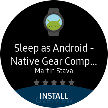 download the Sleep as Android app on galaxy watch