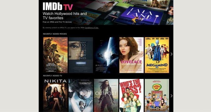 IMDB TV Free Streaming Platform