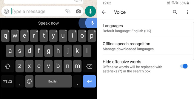 Voice typing on Gboard