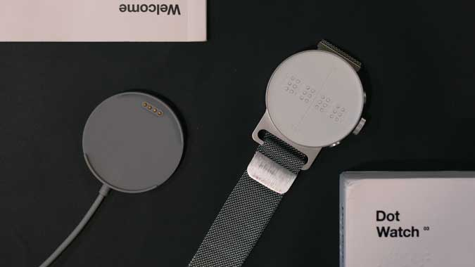 box contents of the Dot Watch