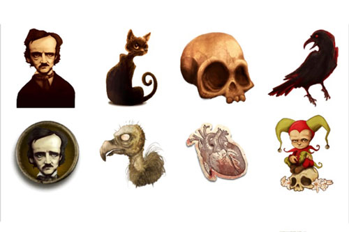 poe stickers for scary chats