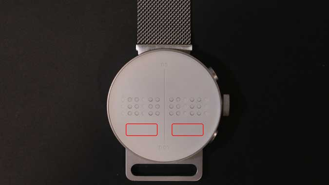 dot watch with 4 cells and two touch pads