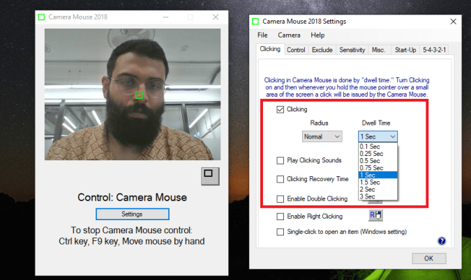 Control the PC with your Webcam
