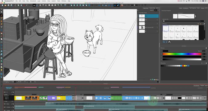 creating a storyboard on Toon Boom Storyboard