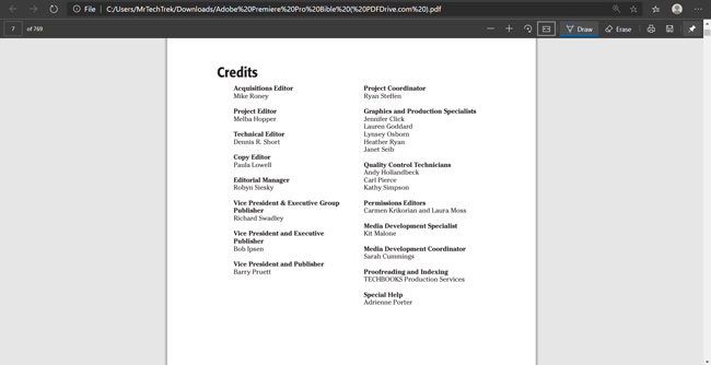 PDF Reader in Edge Chromium