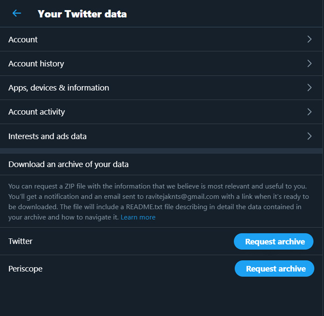 Download Twitter Data