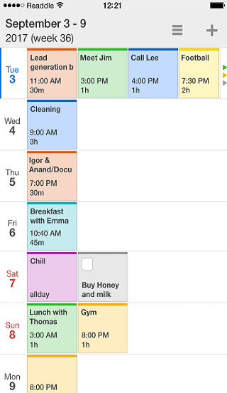 calendars 5 timeline view