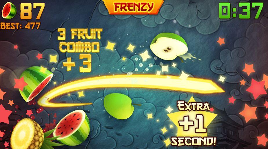 fruit ninja in action