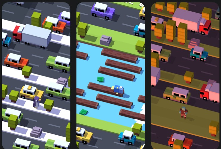 crossy roads maps and modes