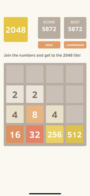 2048 game to relax