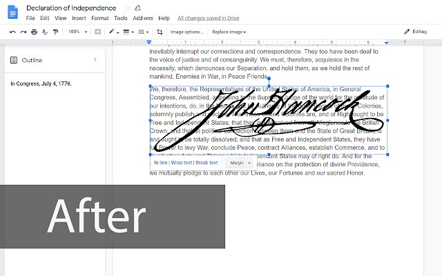 watermark image over text in google docs