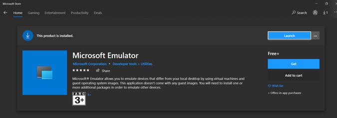 Installing Windows Emulator