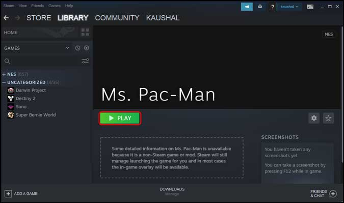 find the retro games in your Steam library
