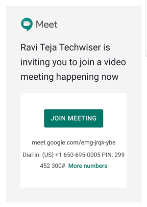 Joining meeting without internet