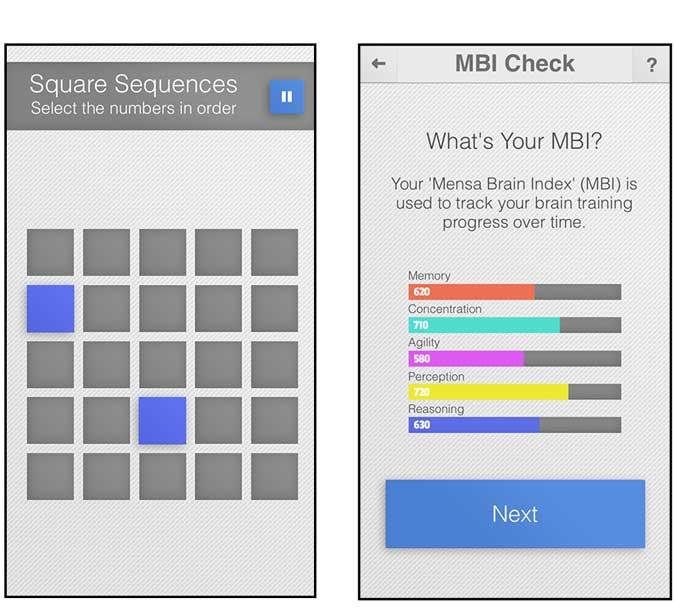 mensa brain training app