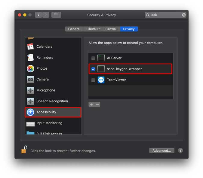 enable accessibility on mac