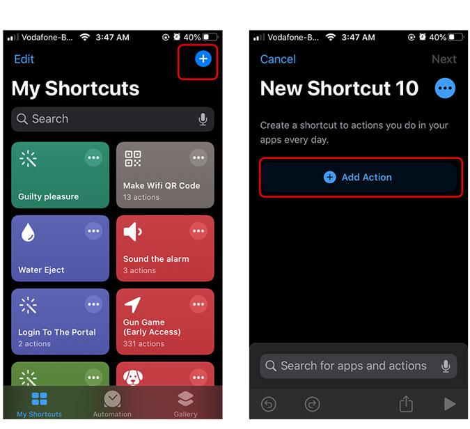 create a locking shortcut