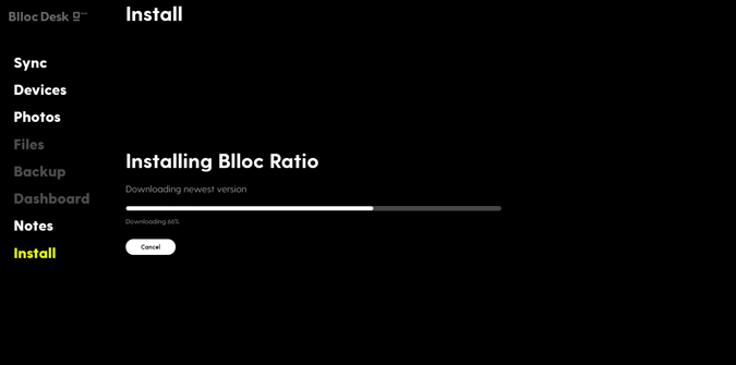 Installing Blloc Pro from the PC