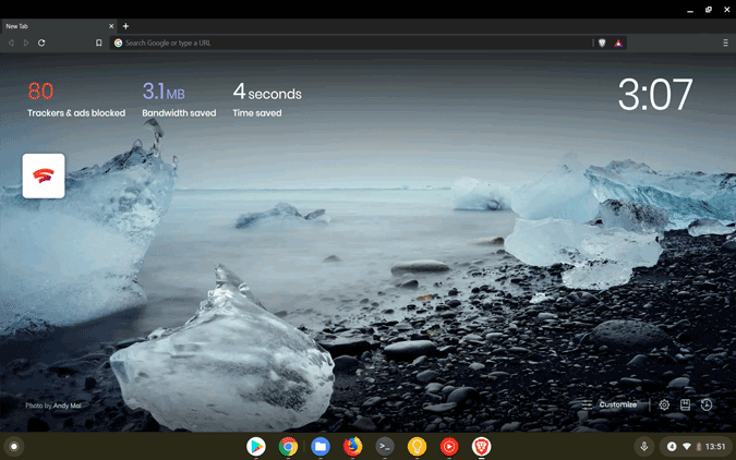 Brave Browser on chromebook