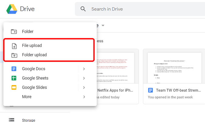 uploading files to Google Drive from Chromebook