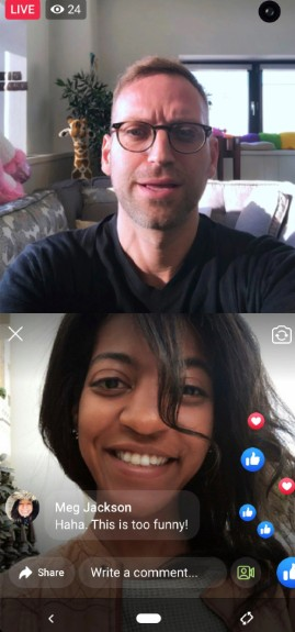 using facebook rooms for video calling