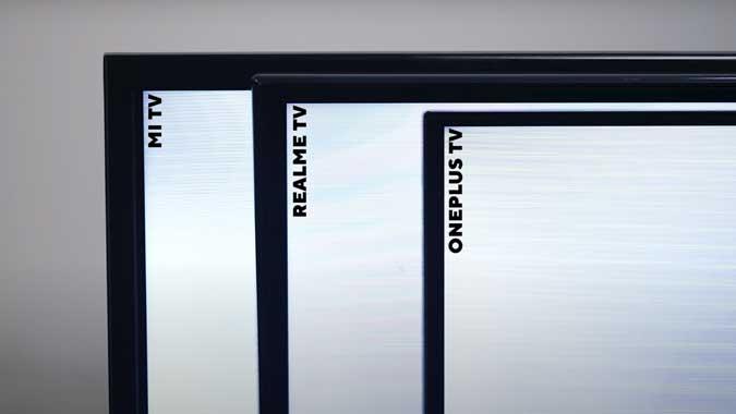 Mi TV 4A PRO vs OnePlus TV vs Realme TV