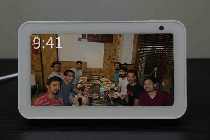 family picture set on Echo Show 5