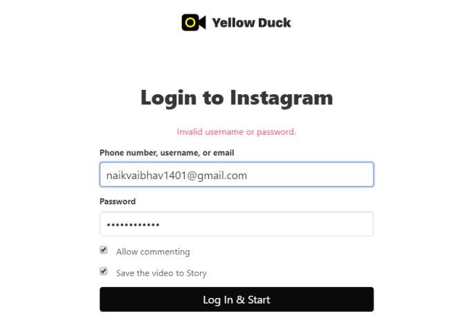 Cast your Desktop on Instagram