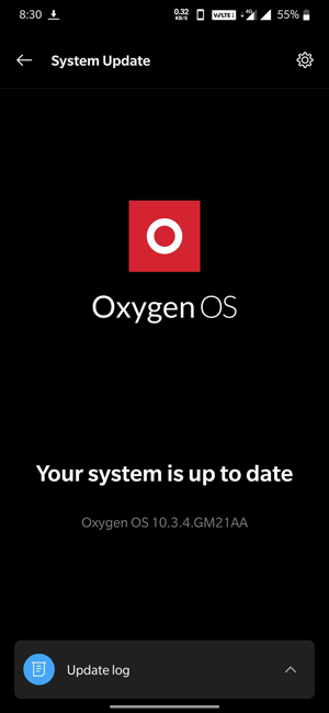 checking Android updates on Oxygen OS