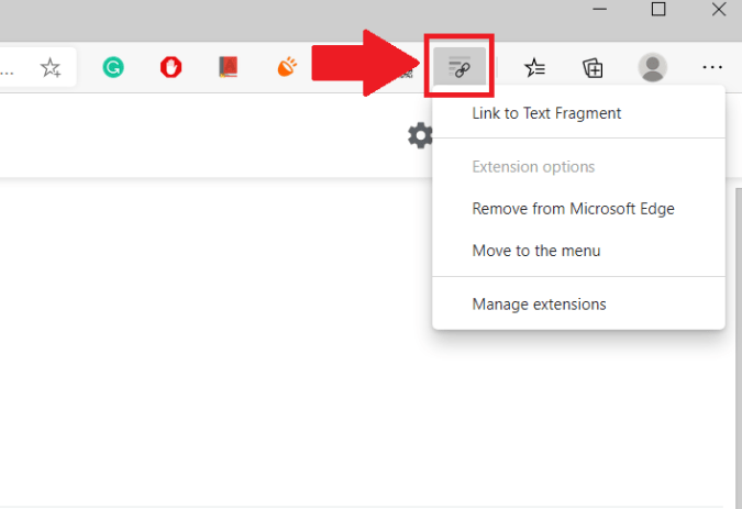 Link to Text Fragment extension on Chrome