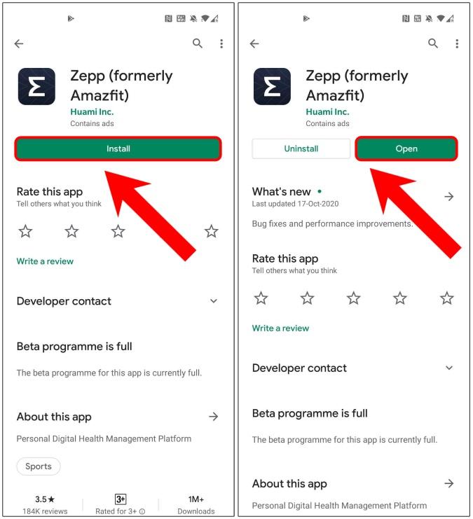 download-install-zepp-app