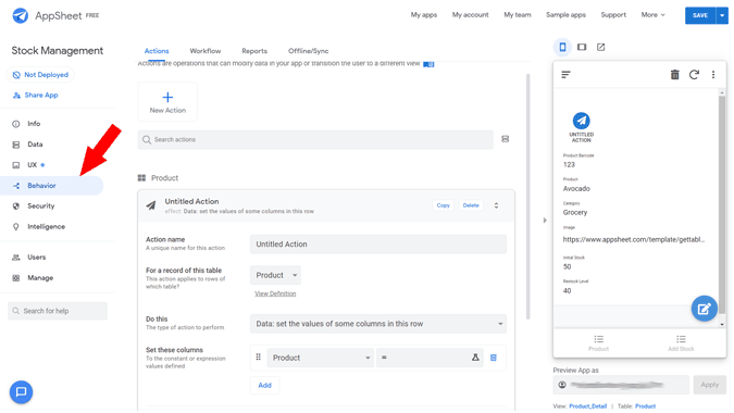 Creating advances automations from the behaviour tab