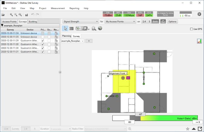 ekahau wifi mapping app with floor plan